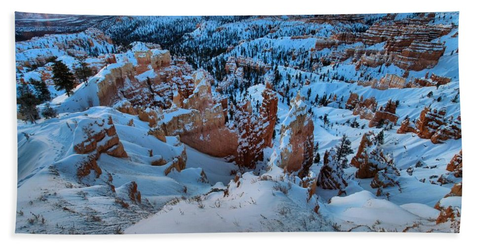 Bryce Canyon National Park Hand Towel featuring the photograph Sunburst Over The Hoodoos by Adam Jewell