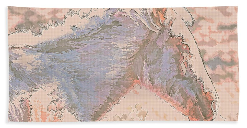 Bath Sheet featuring the photograph Sunday In Peach by Charles Muhle