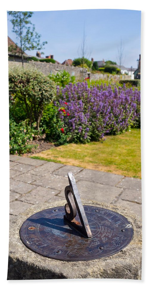 Blue Hand Towel featuring the photograph Sundial by Mark Llewellyn
