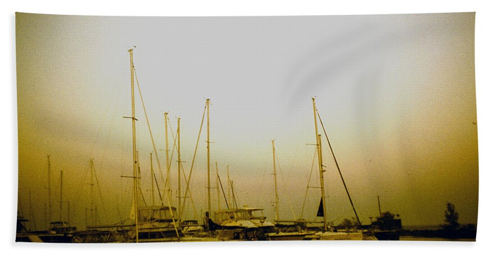 Lake Hand Towel featuring the photograph Sundown By The Lake by Anne Nawrocka