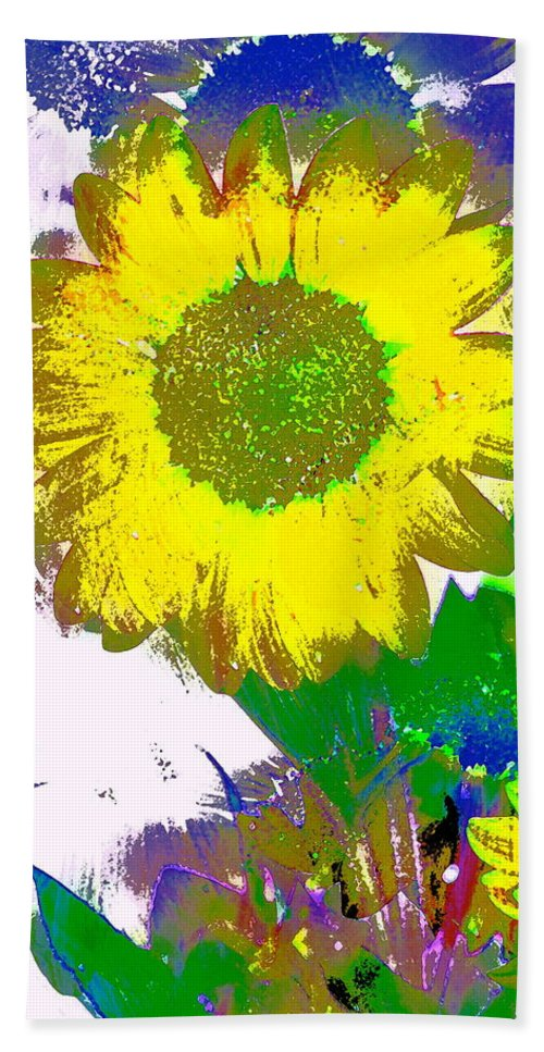 Floral Bath Sheet featuring the photograph Sunflower 30 by Pamela Cooper