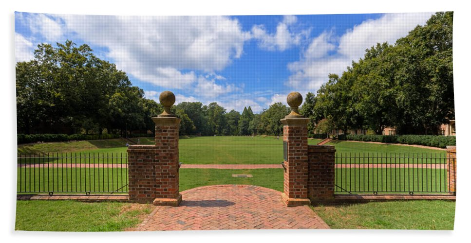 William & Mary Bath Sheet featuring the photograph Sunken Garden At William And Mary by Jerry Gammon