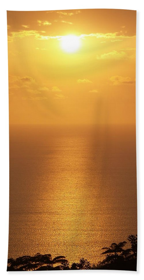 Suset Pictures Hand Towel featuring the photograph Sunlight by Athala Carole Bruckner