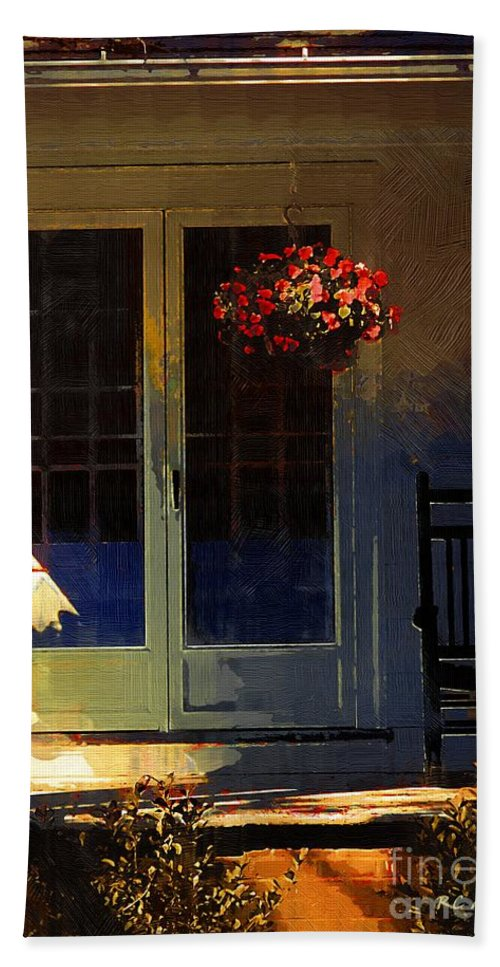 House Bath Sheet featuring the painting Sunlight On Scarlet - New England Autumn by RC DeWinter