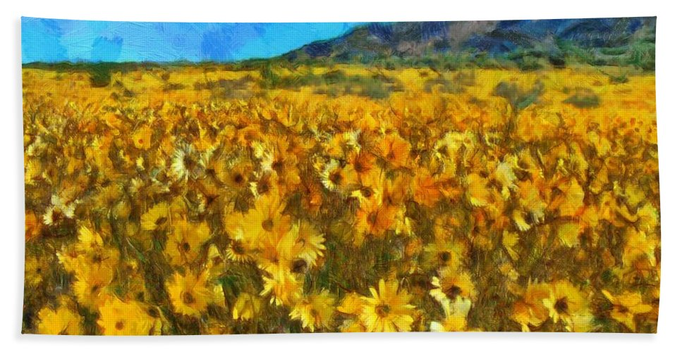 Sunny Meadow Hand Towel featuring the photograph Sunny Meadow by Sergey Lukashin