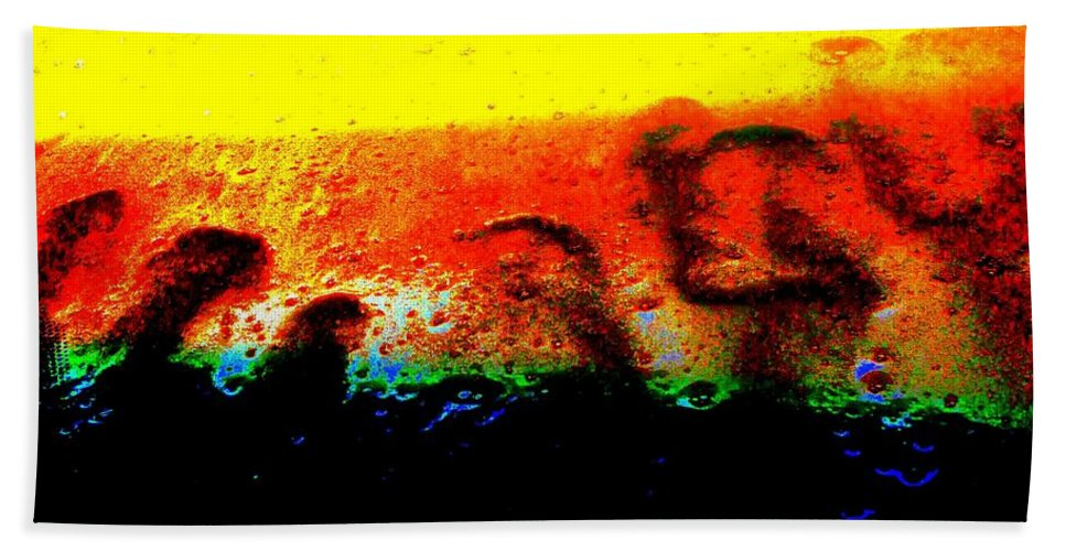 Abstract Bath Sheet featuring the photograph Sunrise Above The Trees by Larry Ward