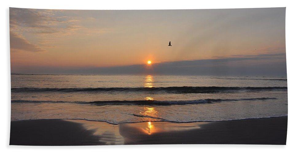 Sunrise.sun Bath Sheet featuring the photograph Sunrise by Bill Cannon