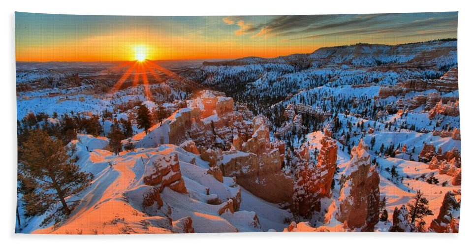 Bryce Canyon National Park Hand Towel featuring the photograph Sunrise Delight by Adam Jewell