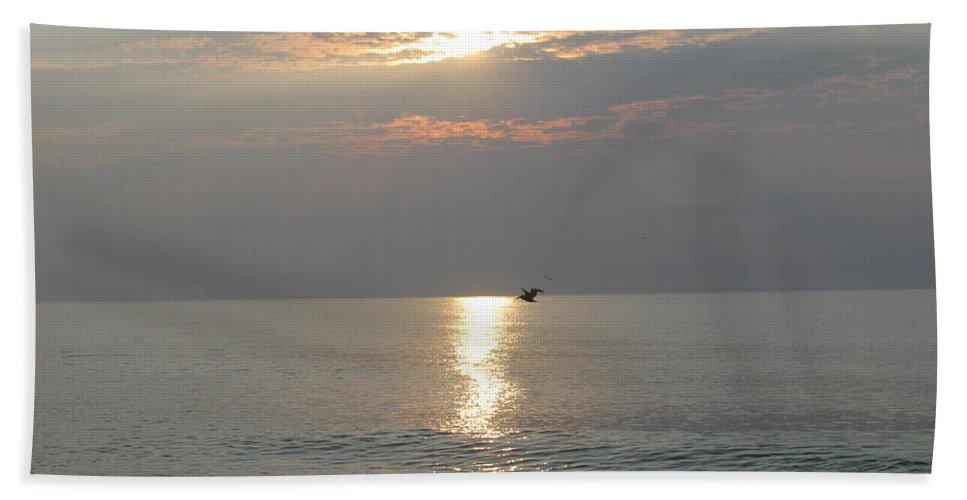 Landscape Hand Towel featuring the photograph Sunrise Flight by Ellen Meakin