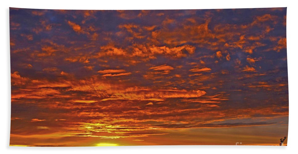 Purple Hand Towel featuring the photograph Sunrise In Colombia by Paola Correa de Albury