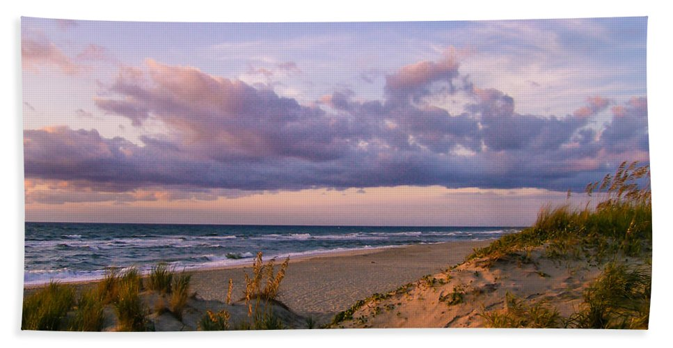 Sunrise Bath Sheet featuring the photograph Sunrise In Rodanthe by Stacy Abbott