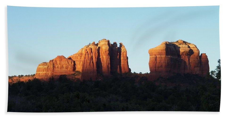 Arizona Bath Sheet featuring the photograph Sunrise by Two Bridges North