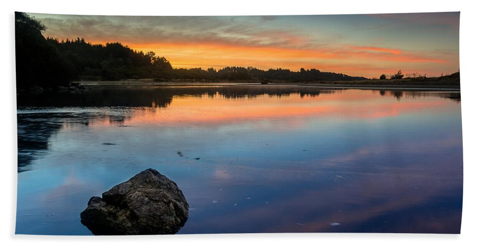 Little River Hand Towel featuring the photograph Sunrise On Little River by Greg Nyquist