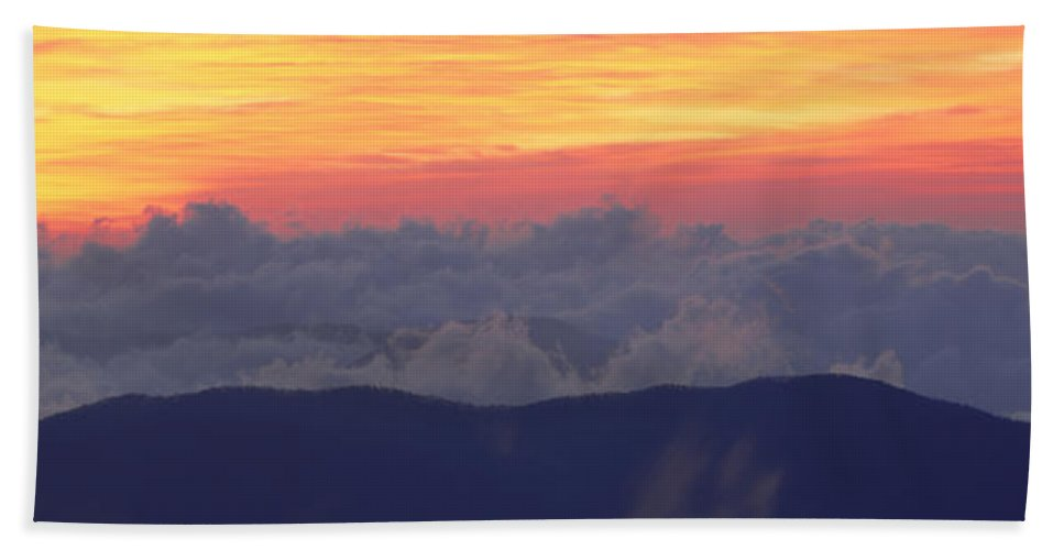 Photography Hand Towel featuring the photograph Sunrise Over Clingmans Dome, Great by Panoramic Images