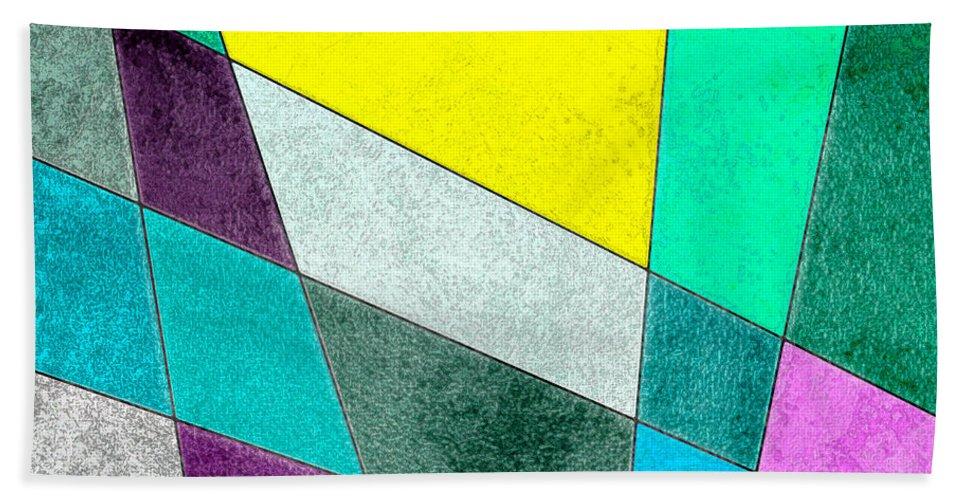 Abstract Bath Sheet featuring the digital art Sunrise... by Tim Fillingim