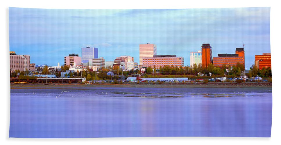 Photography Hand Towel featuring the photograph Sunset, Anchorage, Alaska by Panoramic Images