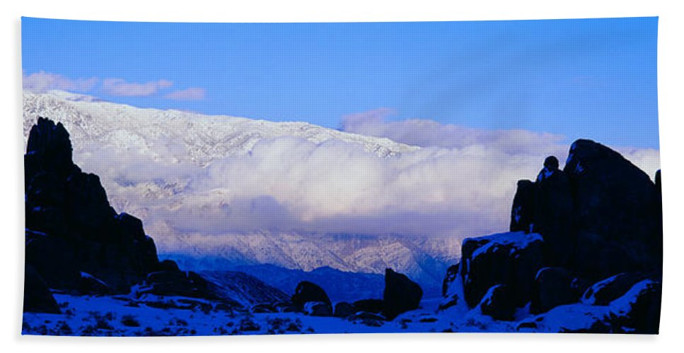 Photography Hand Towel featuring the photograph Sunset At Alabama Hills And Inyo by Panoramic Images