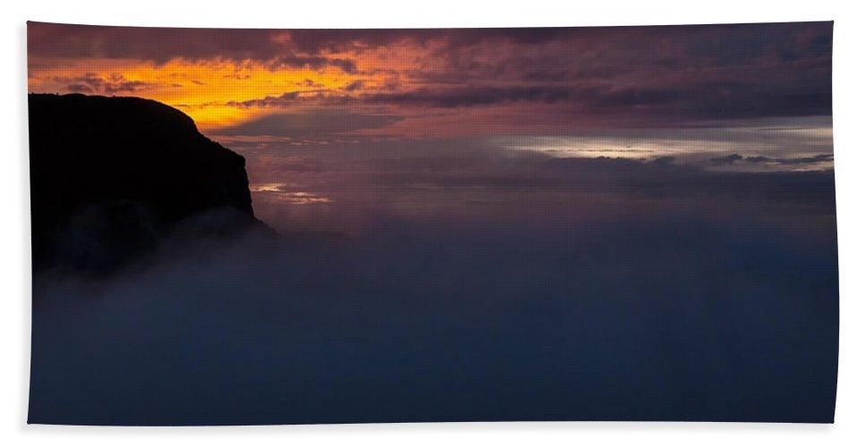 Sunset Bath Sheet featuring the photograph Sunset At Nevado Del Ruiz by Jess Kraft