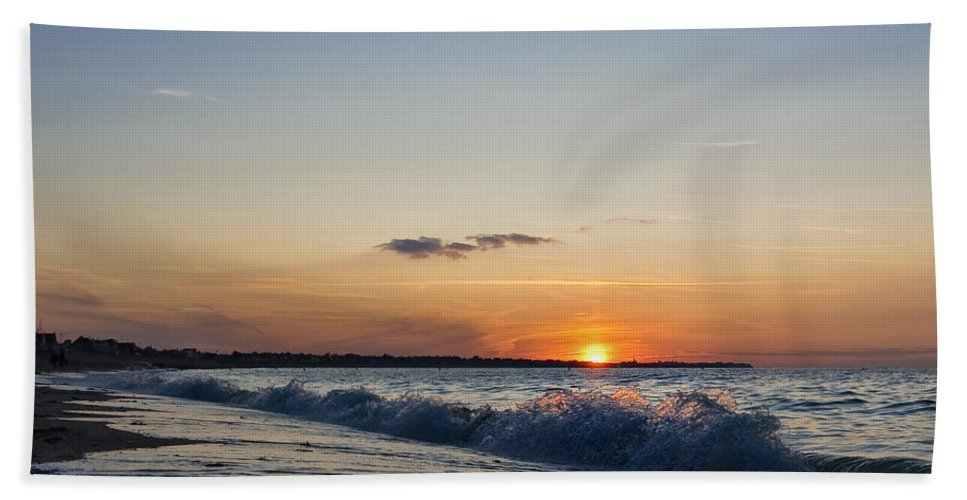 Sunset Hand Towel featuring the photograph Sunset At Riva by Jean-Pierre Ducondi