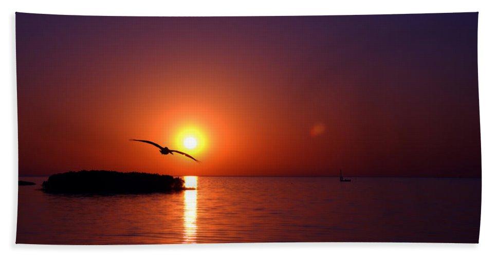 Bird Bath Sheet featuring the photograph Sunset Blue by Beverly Stapleton