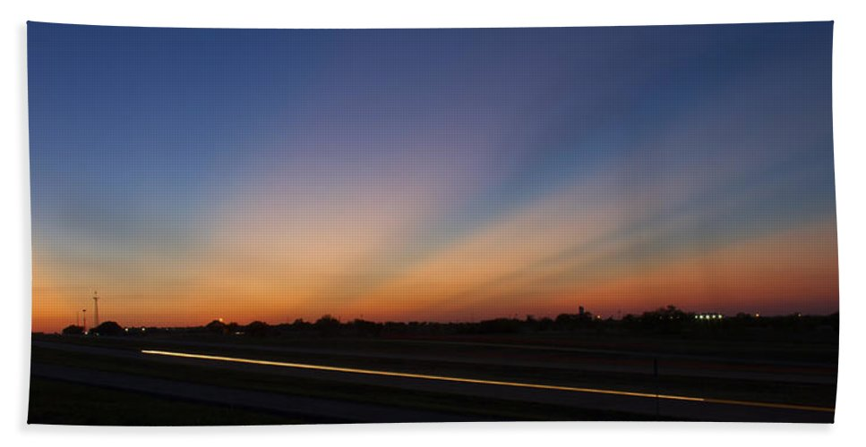Sunset Bath Sheet featuring the photograph Sunset by Debby Richards