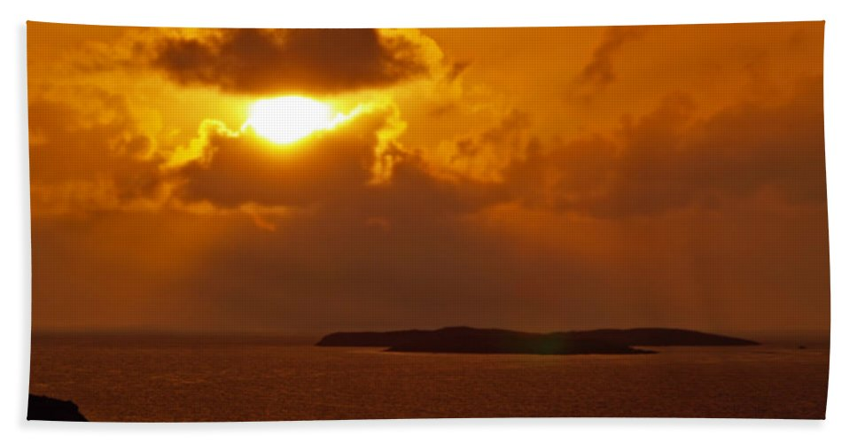 Fine Art Photography Hand Towel featuring the photograph Sunset From The Dolphin Watch Cottage by Patricia Griffin Brett
