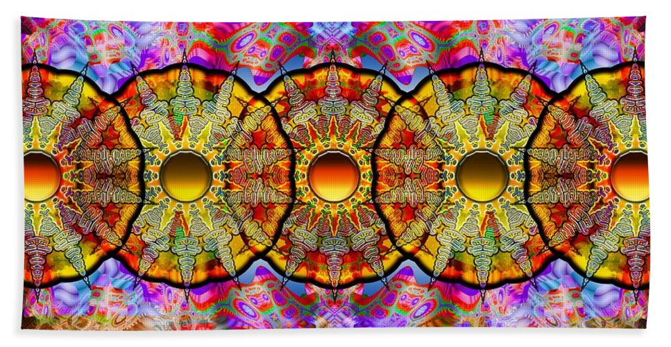 Sun Hand Towel featuring the digital art Sunset Grove by Robert Orinski