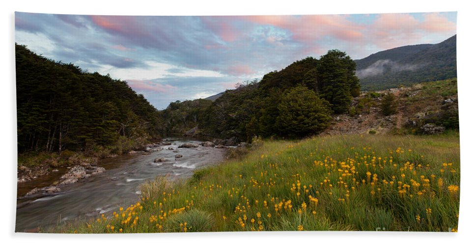 Cobb Valley Bath Sheet featuring the photograph Sunset In Cobb Valley Of Kahurangi Np Of New Zealand by Stephan Pietzko