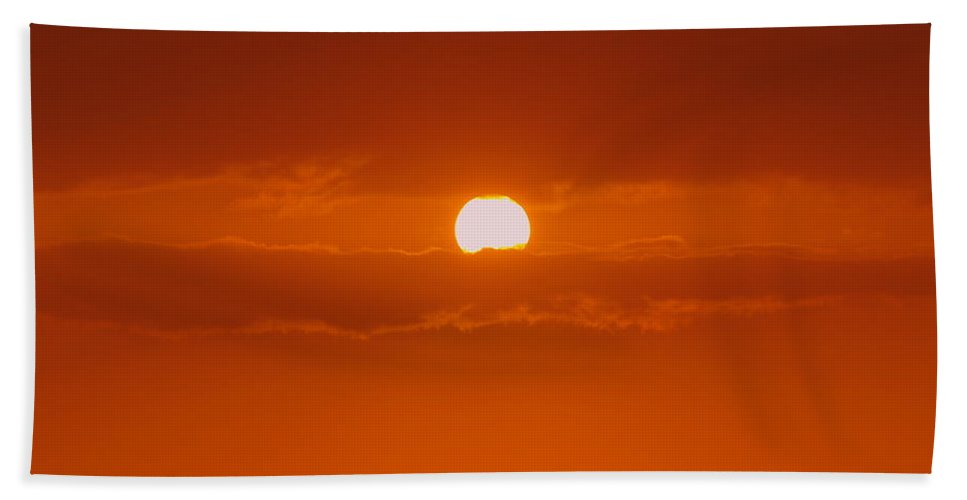 Sun Rise Hand Towel featuring the photograph Sunset In Kona by Athala Carole Bruckner