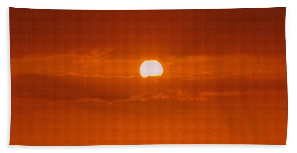 Sun Rise Bath Sheet featuring the photograph Sunset In Kona by Athala Carole Bruckner