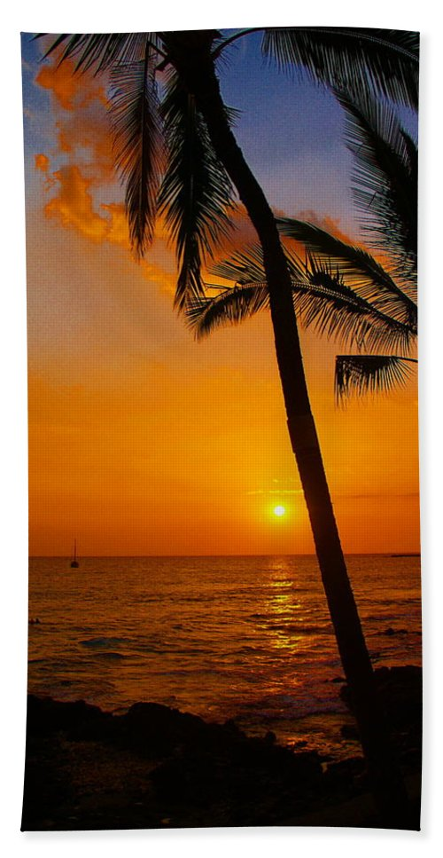Sunset Bath Towel featuring the photograph Sunset In Paradise by Athala Carole Bruckner