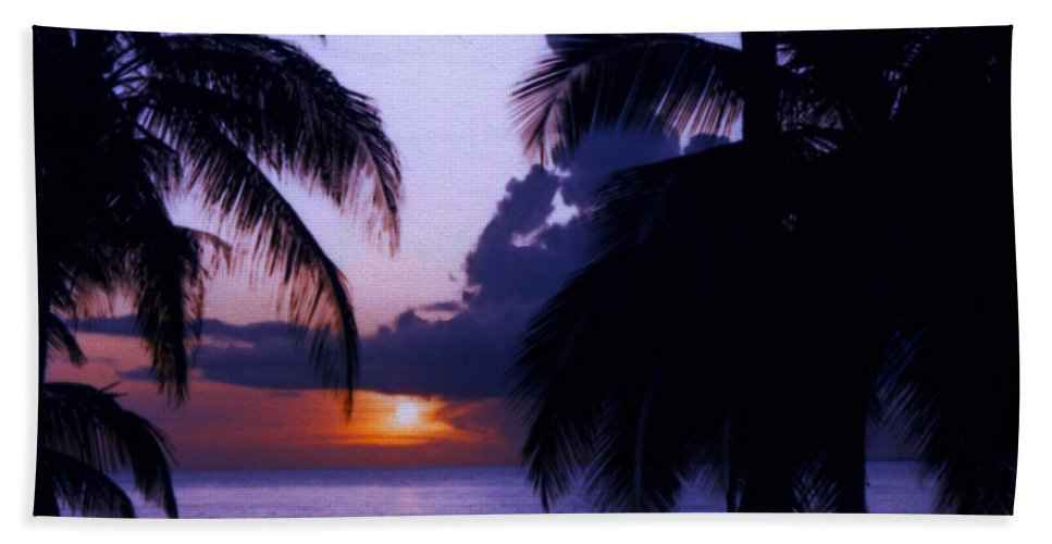 Sunset Hand Towel featuring the photograph Sunset In Paradise by May Finch
