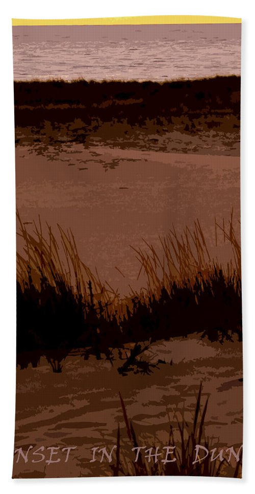 Travel Bath Sheet featuring the photograph Sunset In The Dunes by Michelle Calkins