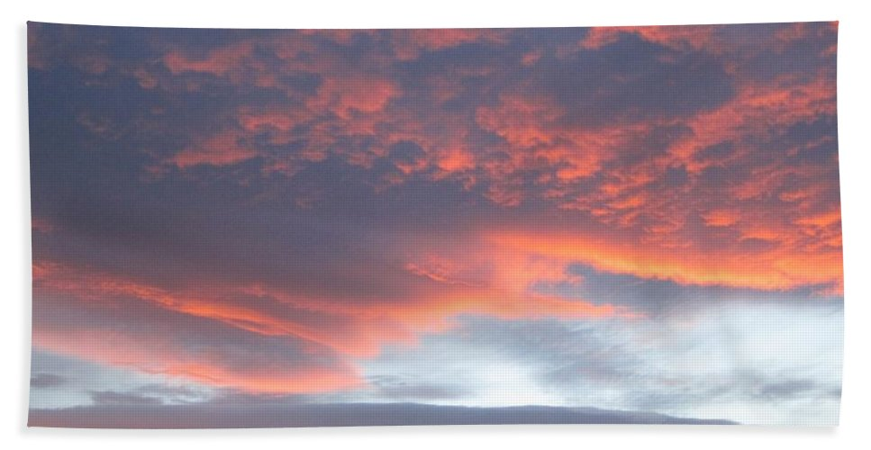 Sunset Bath Sheet featuring the photograph Sunset In Vail Colorado by Fiona Kennard
