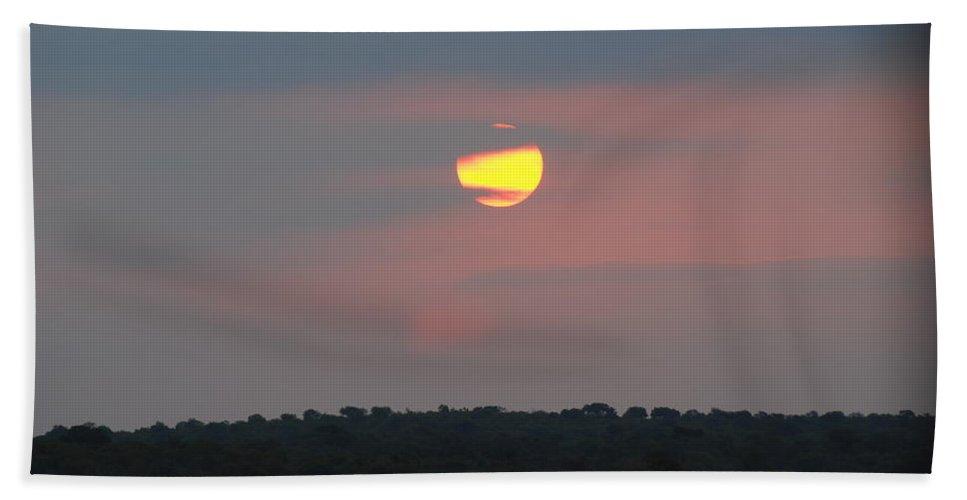 Sunset Hand Towel featuring the photograph Sunset by Juan San Mateo