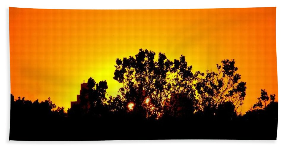 Clearing Bath Sheet featuring the photograph Sunset Landscape by FL collection