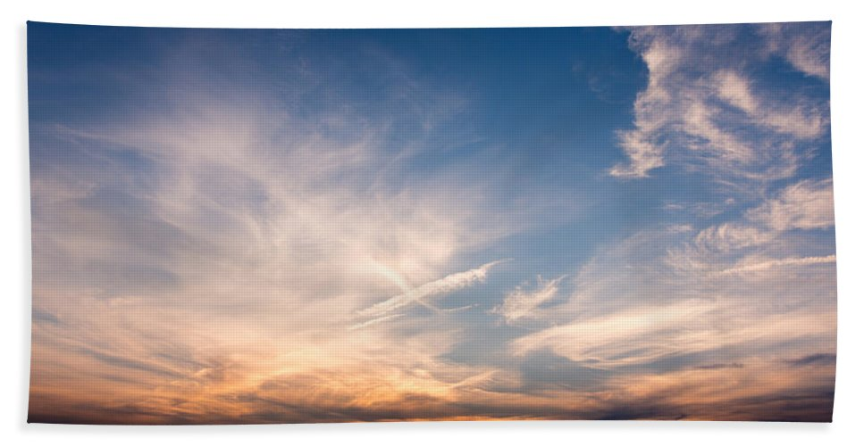 Sky Bath Sheet featuring the photograph Sunset Over Maine by John M Bailey