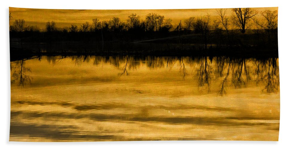Sunset Hand Towel featuring the photograph Sunset Riverlands West Alton Mo Sepia Tone Dsc03319 by Greg Kluempers