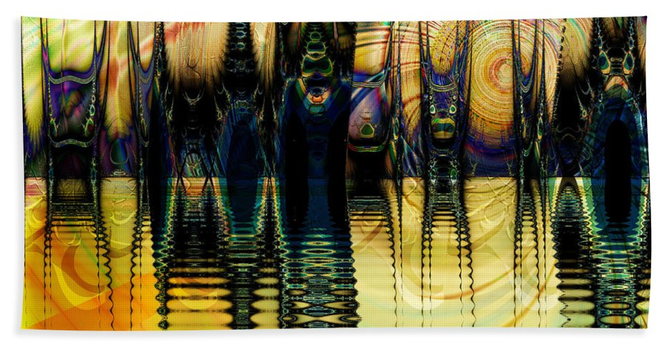 Sunset Hand Towel featuring the digital art Sunset Surreal by Kiki Art
