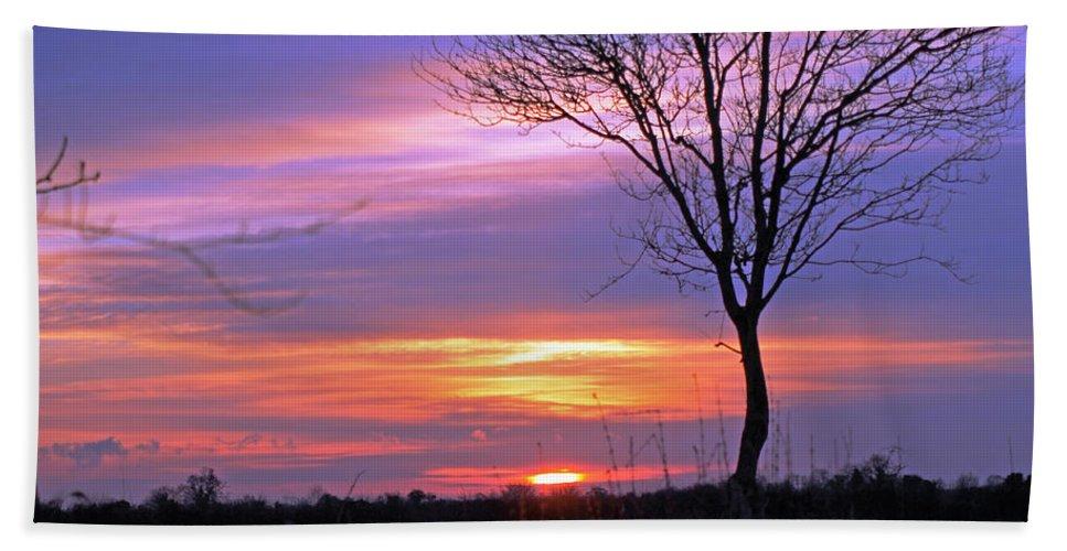 Sunset Bath Sheet featuring the photograph Sunset by Tony Murtagh