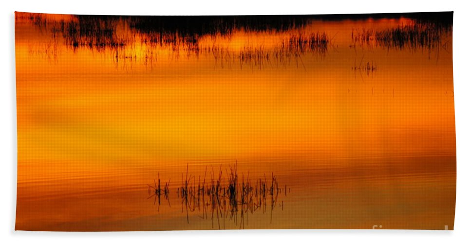 Sunset Hand Towel featuring the photograph Sunset Tupper Lake by Jeffery L Bowers