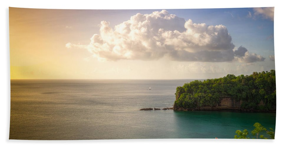 St. Lucia Bath Sheet featuring the photograph Sunset Twilight by Ferry Zievinger