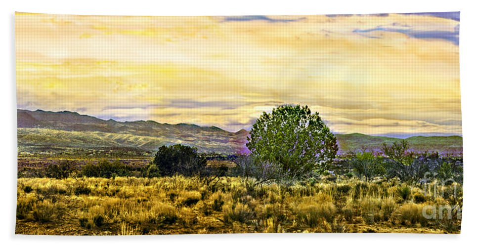 Arizona Hand Towel featuring the photograph Sunset Verde Valley Thousand Trails by Bob and Nadine Johnston