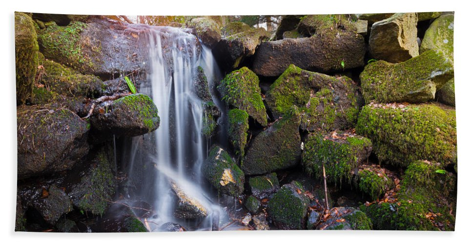 Dublin Hand Towel featuring the photograph Sunset Waterfalls In Marlay Park by Semmick Photo