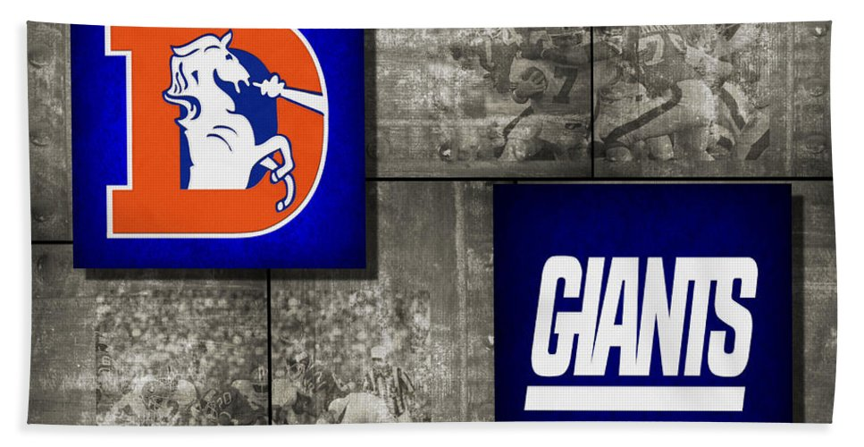 Broncos Bath Sheet featuring the photograph Super Bowl 21 by Joe Hamilton
