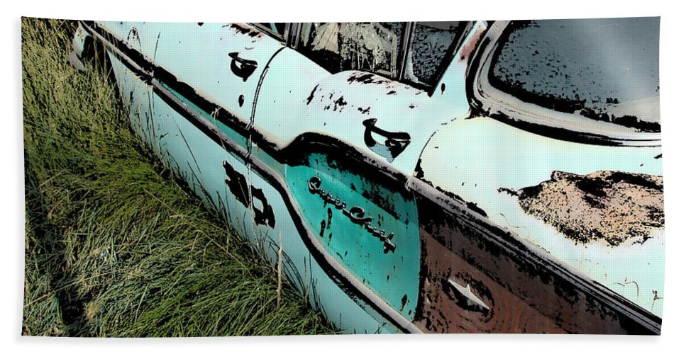 Chevy Bath Sheet featuring the digital art Super Chevy II by Cathy Anderson
