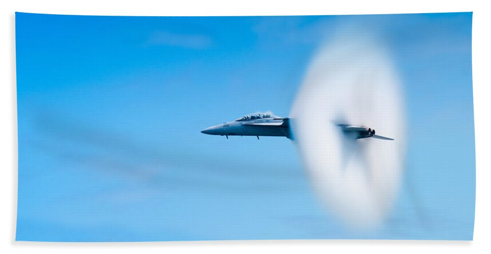 F18 Bath Sheet featuring the photograph Super Sonic by Sebastian Musial
