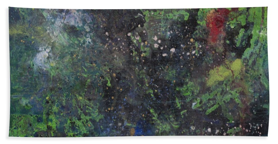 Astral Bath Sheet featuring the painting Supernova Number Three by Laurie Maves ART