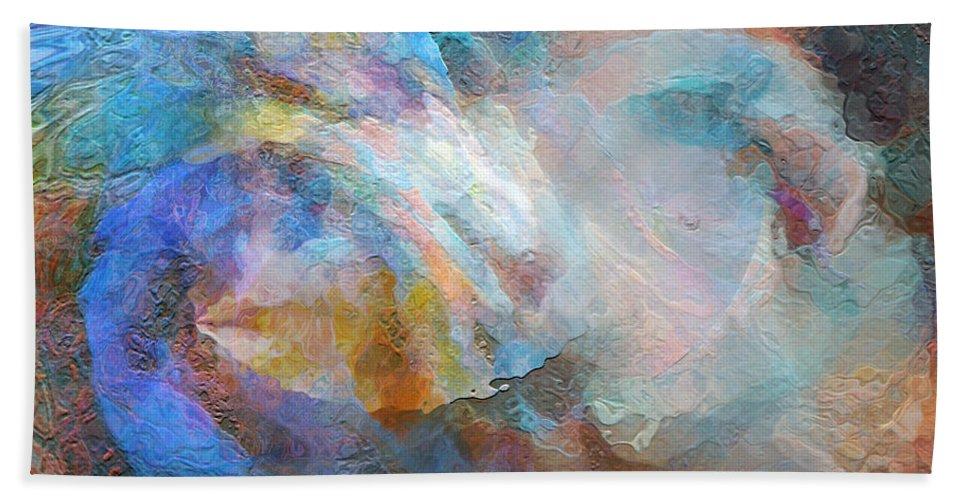 Hotel Art Bath Sheet featuring the digital art Surf Of The Spirit by Margie Chapman