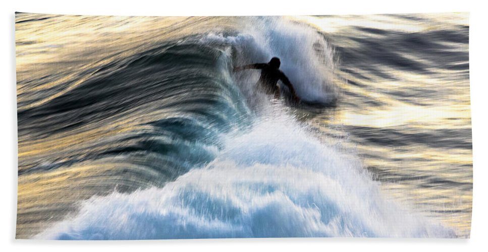 Gold Hand Towel featuring the photograph Surfing For Gold by John Daly